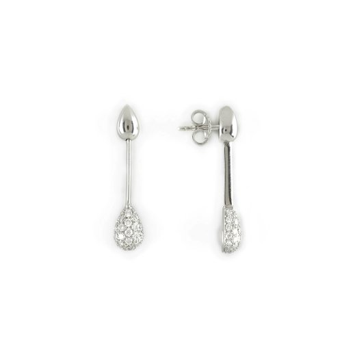 Ohrstecker, lang  mit Pendel Brillant Pavé Bril zusammen  0,73 ct TW VS (Top Weselton Very Small Inclusions)