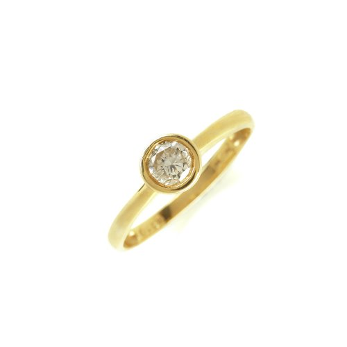 Ring 585 Gelbgold Brillant 0,5 ct. getönt Si (small inclusions)